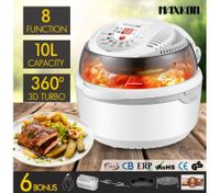 8in1 Multi Function Air Fryer Turbo Convection Oven Cooker-Gray
