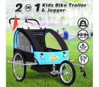 Kidbot 2 IN 1 Bicycle Trailer Pram Stroller Jogger-Blue