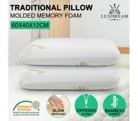 Luxdream 2x Queen Size Classic Molded Memory Foam Pillow