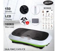 LED Display Genki Whole Body Vibration Machine Plate-White/Green