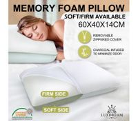 Luxdream New Molded Memory Foam Pillow Soft Or Firm Sides