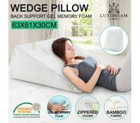 Luxdream Memory Foam and Gel Wedge Pillow