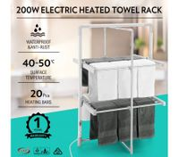 200W 2-Tier Heated Electric Clothes Towel Drying Rack Foldable
