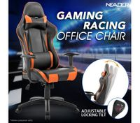 Height Adjustable PU Leather Computer Office Chair with Armrest