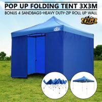 OGL 3x3M Pop Up Outdoor Folding Marquee Gazebo Party Tent Blue