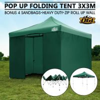 OGL 3x3M Pop Up Outdoor Folding Marquee Gazebo Party Tent Green