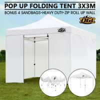 OGL 3x3M Pop Up Outdoor Folding Marquee Gazebo Party Tent White