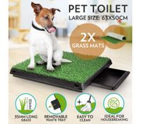 Large Indoor Pet Toilet with 2 Grass Mat