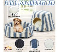 2 IN 1 Folding Soft Washable Pet House and Bed-Medium
