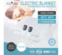 Double Control Electric Blanket - Queen Size