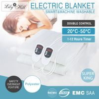 Double Control Electric Heated Blanket Fitted - King