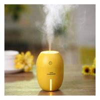 180ML Lemon Mini USB Portable Ultrasonic Humidifier DC 5V LED Light Air Purifier Mist Maker Yellow