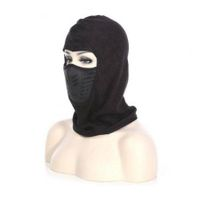 Winter Unisex Windproof Motorcycle Bicycle Face Mask Neck Helmet Cap Thermal Fleece Hat Black