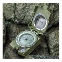 Professional Army Military Geology Pocket Prismatic Compass + Pouch