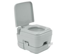 Portable Toilet - Camping Potty Restroom - 10L Square Light Gray
