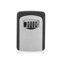 Outdoor Safe Key Box Key Storage Organizer With 4 Digit Wall Mounted Combination Password
