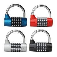 5 Digit Dial Combination Code Number Lock Padlock For Luggage Zipper Bag Black