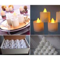 24pcs LED Tea Light Candles +RC Householed led Battery Operated Flameless Candles