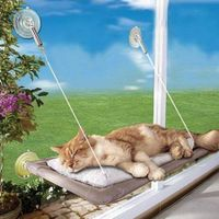 Cat Window Bed Pets Mounted Wall Home Hammock Cover Washable