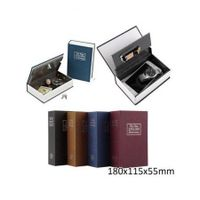 Dictionary Book Secret Hidden Security Safe Key Lock Cash Money Jewellery Locker Black