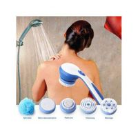 Bath Spin SPA Massage Electric Shower Brush 5 in 1 Cleaning System Long-handled