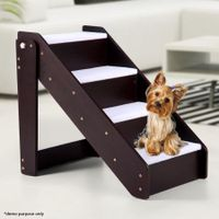 Pet Stairs with 4 Steps and Plush Mat