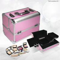 Portable Cosmetics Carry Case Makeup Box - Pink