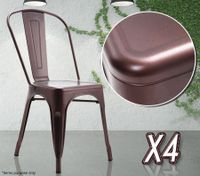 Copper Crack Finish Metal Chairs