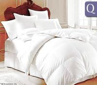 Lily Hill Goose Down Quilt Queen Size - White