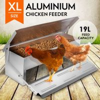 XL Size Durable Rustproof Aluminium Auto Chicken Feeder