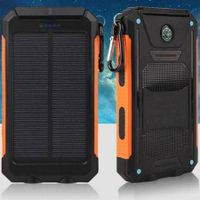 Waterproof 8000mAh Solar Power Bank 2USB Battery Portable Charger