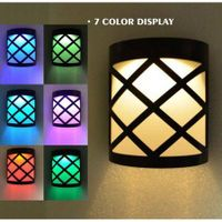 RGB LED Waterproof Outdoor Solar Wall Lamp