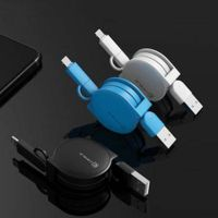 CAFELE 2 in 1 Micro Retractable 1M USB Charger Cable for iPhone / Android