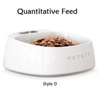PET Intelligent Antibacterial Weighing Bowl Pet Food Water Drink Dishes Feeders Sturdy Washable Bowl