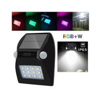 Motion Sensor Solar LED Lights Waterproof IP65 Auto On/Off with RGB