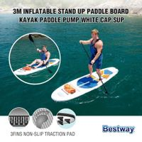 Bestway Inflatable Surfboard Hydro Force White Cap SUP