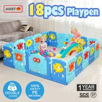 18 Sided Panel Baby Playpen Interactive Baby Room-Sea world