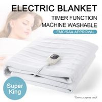 Fitted Heated Electric Blanket with Dual Control-Super King Size