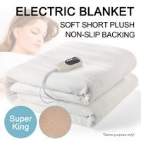 Super King-Size Electric Heated Fleece Velvet Blanket