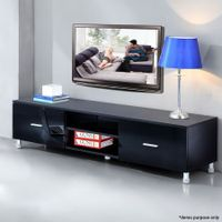 High Gloss 2 Drawer TV Stand-Black