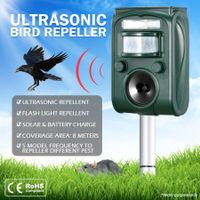 Ultrasonic Bird & Animal Repeller Solar Powered Pest Repeller with LED Indicator