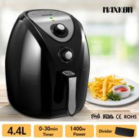 NEW 4.4L Turbo Air Fryer 80% Oil less with Recipes Cooker - Black