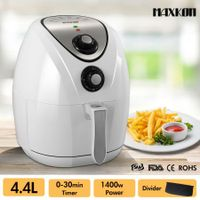 4.4L Oil Free Air Fryer Low Fat Rapid Cooker with Recipes Cooker - White