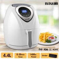 4.4L Digital Turbo Air Fryer 80% Oil Less with Recipes Rapid Healthy Deep Cooker