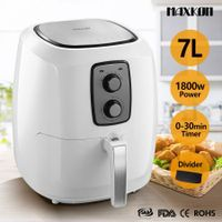 XL 1800W 7L 80% Oil Free Air Fryer Deep Cooker Turbo Convection Oven