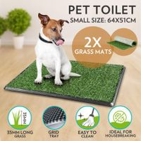 Indoor Pet Training Toilet Puppy Potty Training Pet Potty with 2 Grass Mats