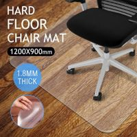 Hard Floor PVC Computer Office Chairmat Rectangle Protector-120cm x 90cm