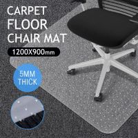 Carpet floor PVC Computer Office Chairmat Rectangle Protector -120cm x 90cm