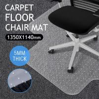 PVC Computer Office Chairmat Carpet Floor Protector -135cm x 114cm