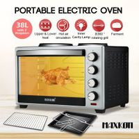 Maxkon 38L Portable Oven Electric Convection Toaster with Rotisserie & Hotplates